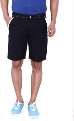 Calloway Solid Men's Black Basic Shorts
