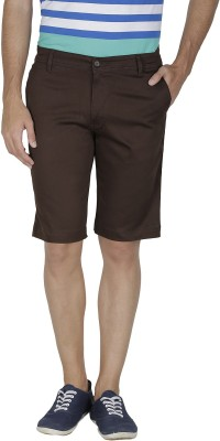 Inspire Solid Men's Brown Chino Shorts
