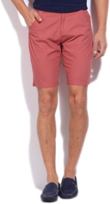 Pepe Jeans Solid Men's Pink Basic Shorts
