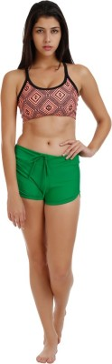 Holidae Solid Women's Green Beach Shorts