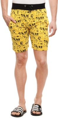 Rose Taylor Printed Men's Yellow Beach Shorts