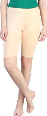 Rham Solid Women's Beige Basic Shorts