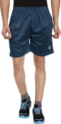 Fashion Flag Solid Men's Blue Basic Shorts