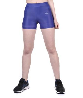 Yogue Printed Women's Blue Gym Shorts