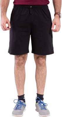 Lingo Striped Men's Black Basic Shorts