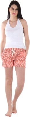 Private Lives Printed Women's Orange Night Shorts