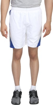 Trendy Trotters Solid Men's White Sports Shorts