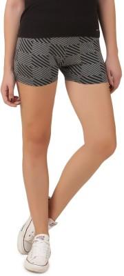 Flur Geometric Print Women's Grey, Black Hotpants
