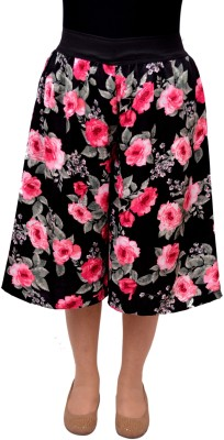 V3ishop Floral Print Women's Pink Culotte Shorts