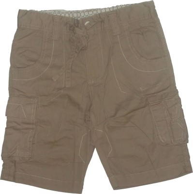 Red Rose Woven Boys Grey Cargo Shorts