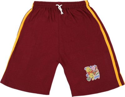 Rishan Solid Boy's Maroon Basic Shorts
