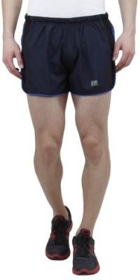T10 Sports Solid Men's Dark Blue Running Shorts