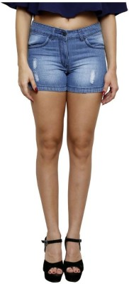 Westwood Solid Women's Light Blue Denim Shorts