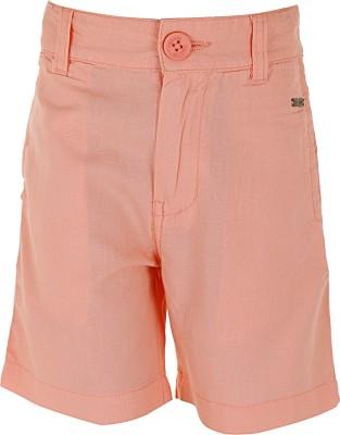 Ice Boys Solid Boy's Orange Basic Shorts