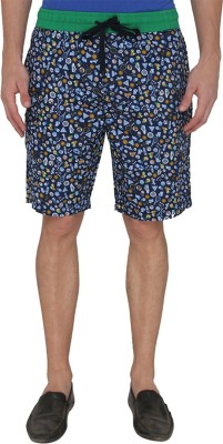 Jadeblue Printed Men's Blue Bermuda Shorts