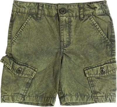 Cub Solid Boy's Green Bermuda Shorts