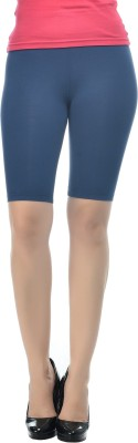 Frenchtrendz Solid Women's Dark Blue Chino Shorts