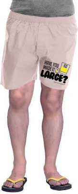 Wear Your Opinion Printed Men's Beige Boxer Shorts