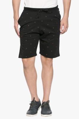GARCON Printed Men's Black Basic Shorts