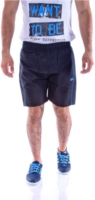 Choice4U Solid Men's Reversible Black Sports Shorts