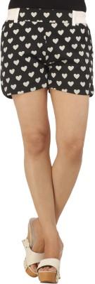 Modimania Printed Women's White Basic Shorts