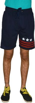 Gen Solid Men's Blue Running Shorts