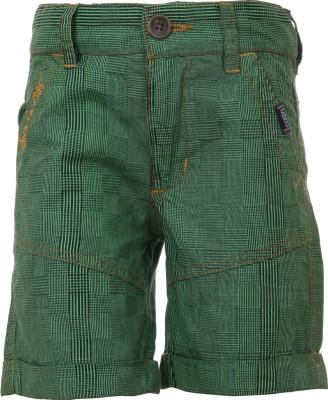 Ice Boys Printed Boy's Green, Black Basic Shorts