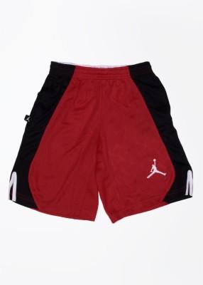 Jordan Kids Self Design Boy's White, Black, Red Sports Shorts