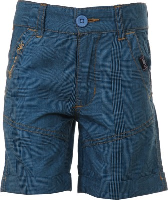 Ice Boys Printed Boy's Blue Basic Shorts