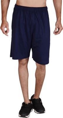 Wermin Solid Men,s Dark Blue Basic Shorts