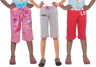 Menthol Printed Girl's Pink, Grey, Red Board Shorts