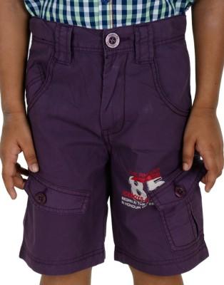 Ice Boys Printed Boy's Purple Basic Shorts