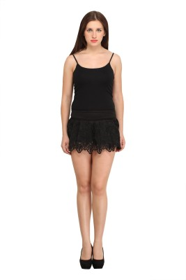 Star Style Self Design Women's Black Culotte Shorts at flipkart