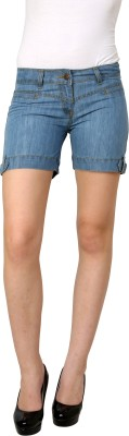 Westwood Solid Women's Blue Denim Shorts