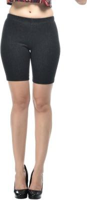 Frenchtrendz Solid Women's Black Denim Shorts