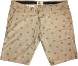 Rasonn Printed Men's Brown Basic Shorts