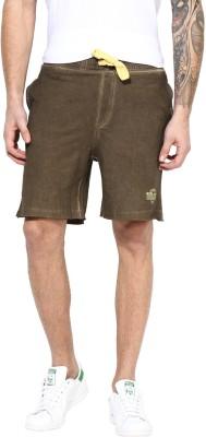 MONTEIL & MUNERO Solid Men's Brown Chino Shorts