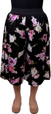 Gracediva Floral Print Women's Black Culotte Shorts
