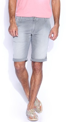 GAS Solid Men,s Grey Basic Shorts