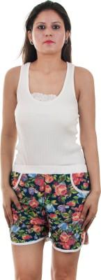 Gwyn Lingerie Floral Print Women's Multicolor Basic Shorts