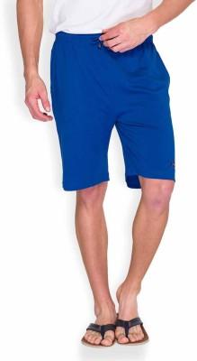 Park Avenue Solid Men's Blue Basic Shorts