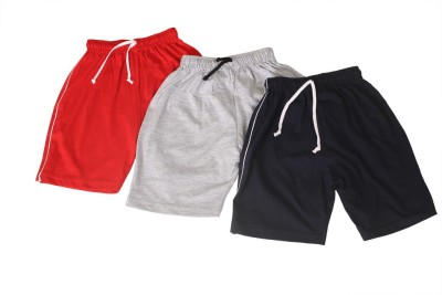 Weecare Solid Boy's Red, Grey, Blue Basic Shorts