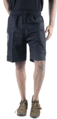 0-Degree Solid Men's Black Chino Shorts