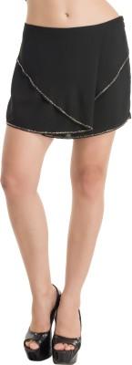 Kazo Embellished Women's Black High Waist Shorts