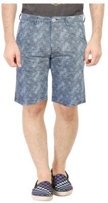 Primo Printed, Floral Print Men's Black Beach Shorts, Basic Shorts, Night Shorts