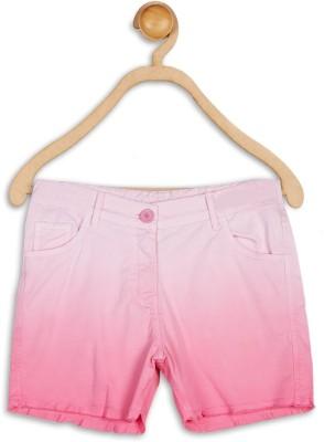 612 League Printed Girl's Pink Basic Shorts