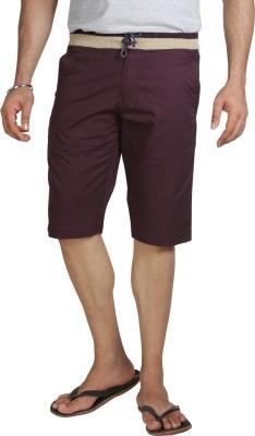 AVOQ-Style Reboot Solid Men's Purple Basic Shorts, Bermuda Shorts, Night Shorts