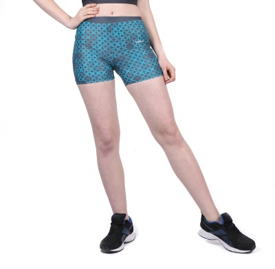 Yogue Printed Women's Blue, Grey Gym Shorts