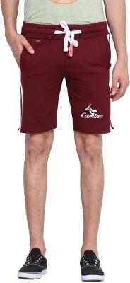 Camino Solid Men's Maroon Basic Shorts