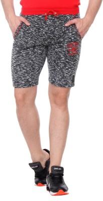 TAB91 Printed Men's Black Basic Shorts